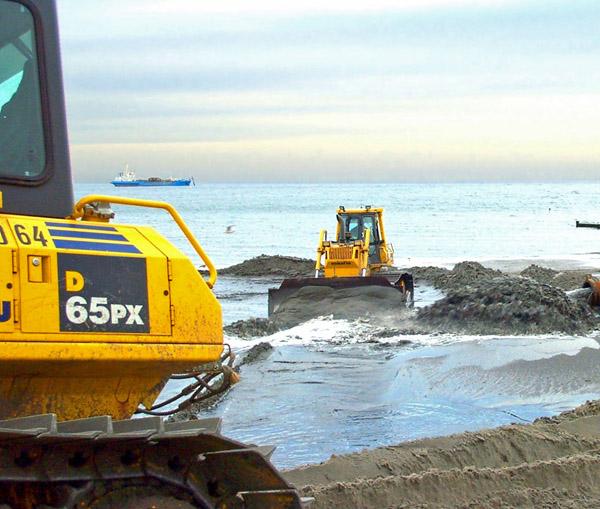 Küstenschutz durch Sandaufspülungen