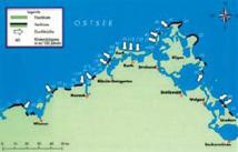 Verteilung von Flach- und Steilküsten