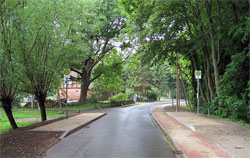 Sanierte Parkstraße in Divitz